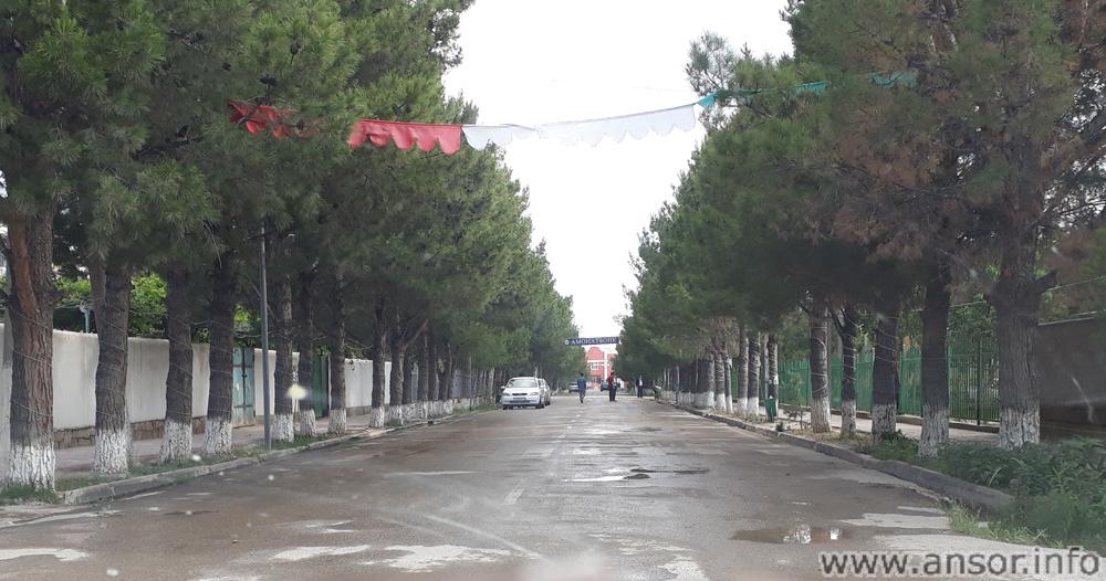 Главная - центральная - протокольная дорога городка Бешкент