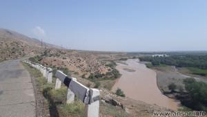 Река Кафарниган в шахритузском районе