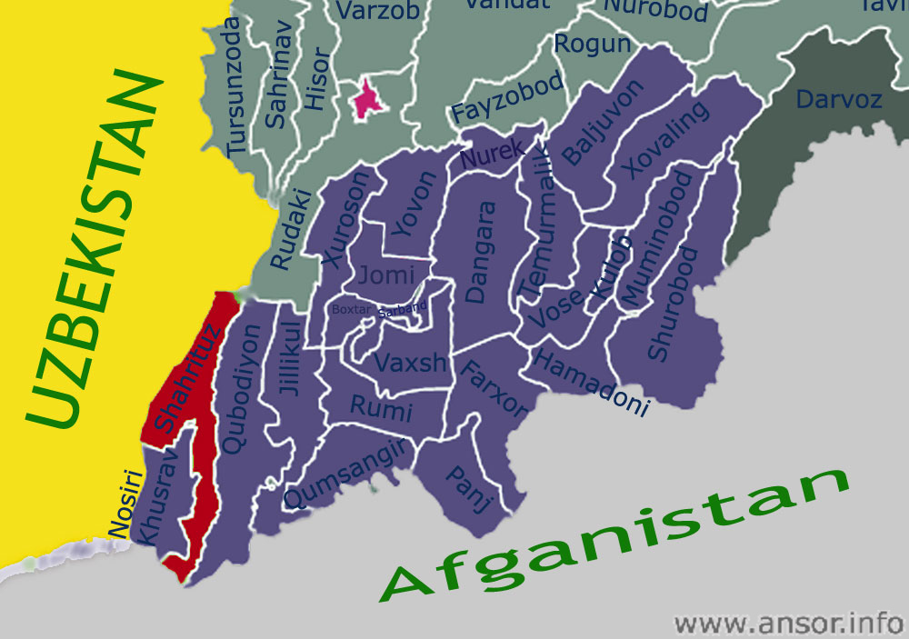 Карта Шахритузского района