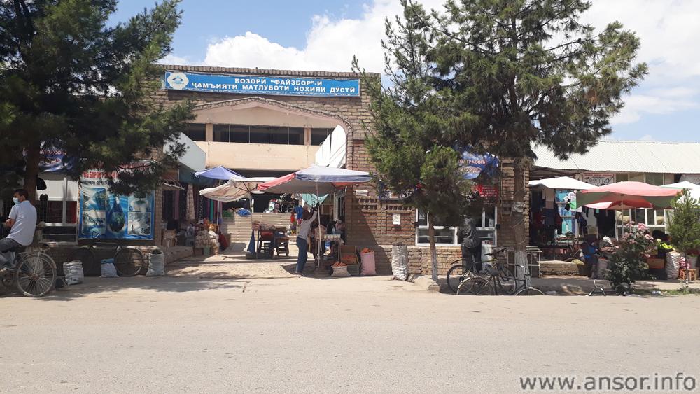 Рынок района дусти в посёлке Гараути