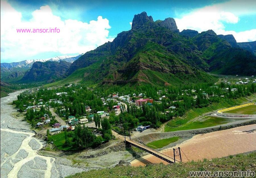 Центр района Сангвор  (Тавилдара) и река Вахё