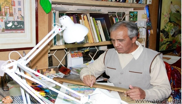 Фото Олима Каримова - Лучшего художника Таджикистана