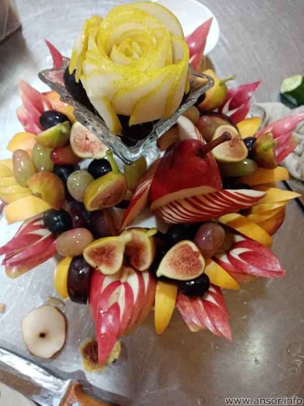 Украшение фруктов по таджикский