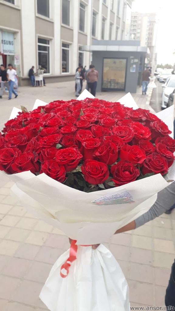 Доставка розы по городу Душанбе