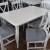 Белый стол производства Турции с 6-мя стульями